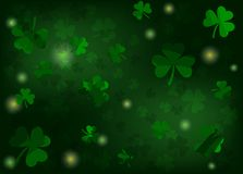 Patricks background with shamrocks and lights. green colors. vector illustration. Patricks background with shamrocks and lights. vector illustration. green royalty free illustration