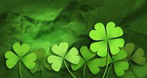Patricks day background. Shamrock leaf clover. Patricks day background Stock Image