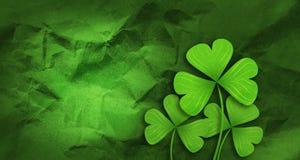 Patricks day background. Shamrock leaf clover. Patricks day background Royalty Free Stock Image