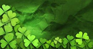 Patricks day background. Shamrock leaf clover. Patricks day background Stock Photos