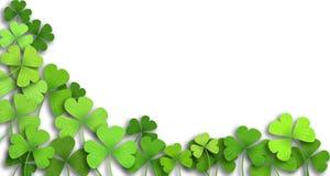 Patricks day background. Shamrock leaf clover. Patricks day background Royalty Free Stock Photos