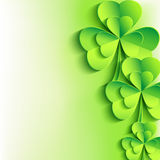 Patricks day background with stylish leaf clover Royalty Free Stock Images