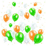 Patricks day balloons Royalty Free Stock Photo