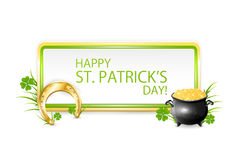 Patricks day banner Stock Photo