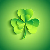 Patricks day card green with stylized leaf clover Royalty Free Stock Images