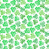 Patricks day clover pattern Royalty Free Stock Images