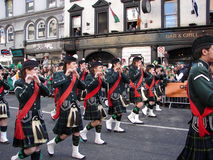 Patricks Day Colourful spectators Royalty Free Stock Images