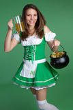 Patricks Day Girl Royalty Free Stock Photography