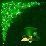 Patricks Day green background Royalty Free Stock Photography