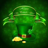 Patricks day green background Stock Photography