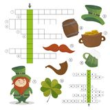 Patricks Day holiday - puzzle - crossword game. Answer included. Patricks Day holiday - puzzle - crossword game for children - Answer included vector illustration