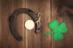 Patricks day holiday symbol. Space for text. royalty free stock photography