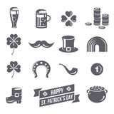 Patricks Day Icons  on White Background Royalty Free Stock Image