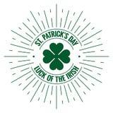 Patricks day logo. Irish stamp on white background Stock Image