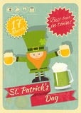 Patricks Day Retro Card Stock Photos