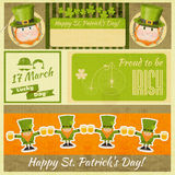 Patricks Day Retro Card Stock Photos