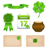 Patricks Day Symbols Stock Image