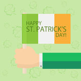 Patricks day theme with the flag of Ireland Stock Image