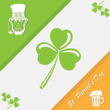 Patricks day on tri-color background Stock Photo