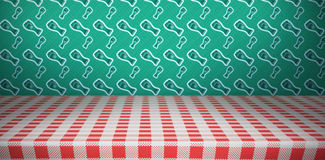 Patricks day wallpaper above table Royalty Free Stock Photos