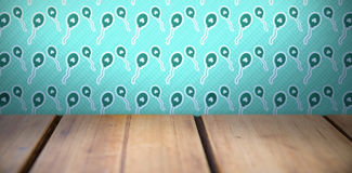 Patricks day wallpaper above table Royalty Free Stock Images