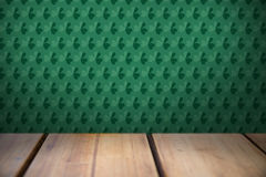 Patricks day wallpaper above table Royalty Free Stock Image