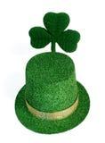 patricks dni skrzacie shamrock kapelusz st. Zdjęcie Stock