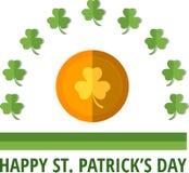 Patricks emblem. St. Patrick's emblem with gold coin. Eps 10 Royalty Free Stock Photography