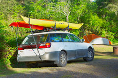 PATRICKS POINT STATE PARK, CALIFORNIA, USA - MAY 2: Car loaded w Stock Photos