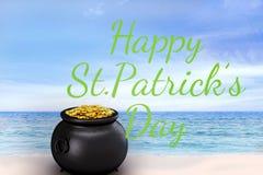 Составное изображение счастливого дня patricks st Стоковое Изображение RF