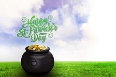 Составное изображение приветствия дня patricks st Стоковое Изображение