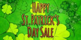 Составное изображение счастливой продажи дня patricks st Стоковая Фотография RF