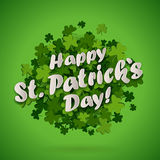 Patrics leaves background. Abstract bright green clover leaves background for St. Patrick's Day, vector illustration Royalty Free Stock Photography