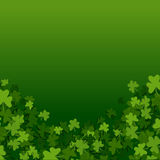 Patrics leaves background. Abstract St. Patrick's Day background with falling clover leaves, vector illustration Stock Image