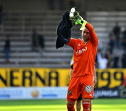 Patrik Carlgren, AIK. Patrik Carlgren, goalkeeper in Swedish side AIK from Stockholm. Picture from when they played IF Elfsborg at Borås Arena in Borås. The Royalty Free Stock Photography