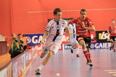 Patrik Doza - floorball. Patrik Doza in 2th semifinal of czech floorball match betwwen Tatran Stresovice and Pedro Perez Florbal Chodov. It was played on 30.3 Royalty Free Stock Images