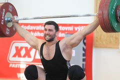 Patrik Krywult - weightlifting Stock Image