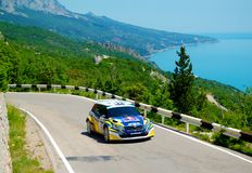 Patrik Sandell on the IRC Prime Yalta Rally 2011 Royalty Free Stock Photos