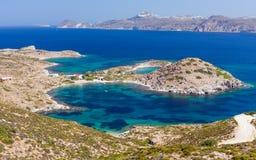 Patrikia bay, Milos island, Cyclades, Greece Stock Photos