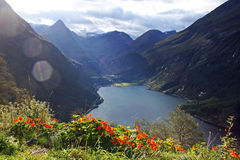 Património mundial - Geirangerfjord Fotografia de Stock