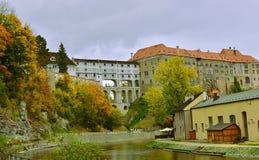 Patrimônio mundial do UNESCO do castelo de Cesky Krumlov Fotos de Stock