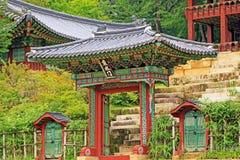 Patrimônio mundial do UNESCO de Coreia - palácio de Seoul Changdeokgung Fotos de Stock Royalty Free