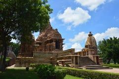 Patrimônio mundial: Templos de Kajuraho na Índia Fotografia de Stock Royalty Free