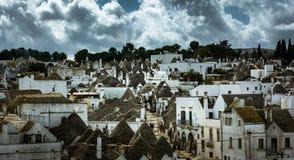 Patrimoine mondial de l'UNESCO Alberobello Italie Images libres de droits