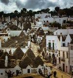 Patrimoine mondial de l'UNESCO Alberobello Italie Photographie stock libre de droits