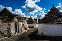 Patrimoine mondial de l'UNESCO Alberobello Italie Photo stock