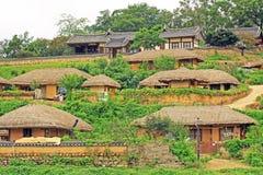 Patrimoine mondial de l'UNESCO de la Corée - village de Gyeongju Yangdong photos stock