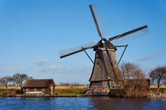 Patrimoine mondial de l'UNESCO Kinderdijk Images libres de droits
