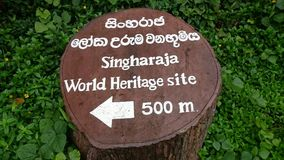 Patrimoine mondial de Singharaja du Sri Lanka image stock