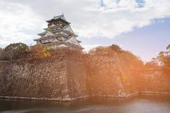 Patrimoine mondial japonais de château d'Osaka Photo libre de droits
